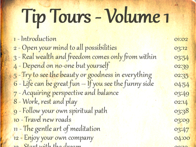 Tip Tours Vol 1 Audiobook reverse 1